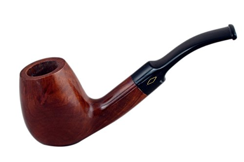 ROMBO briar bent brandy smooth tobacco smoking pipe from Brebbia (Italy) (Brandy Smooth)