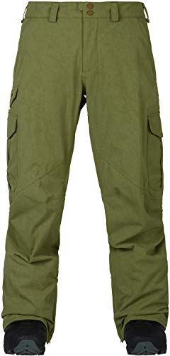Burton Men's Cargo Snow Pant Regular Fit , Olive Branch Distress, Small