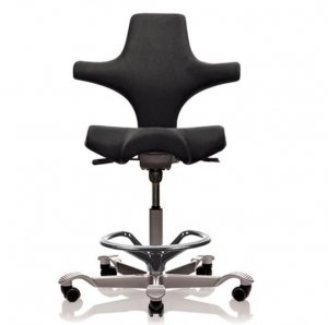 Cone Instruments Ergo Foot Ring Chair for Sonographers (Black)