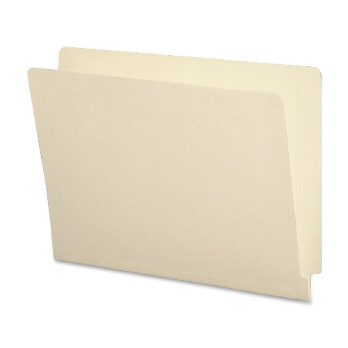 Smead End Tab File Folder, Shelf-Master Reinforced Straight-Cut Tab, Letter Size, Manila, 100 per Box (24110)