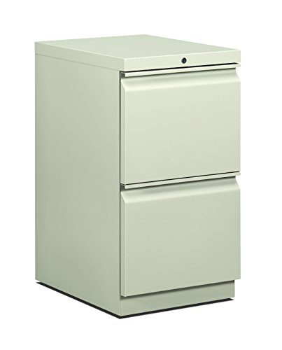 HON 33823RS 22-7/8-Inch Efficiencies Mobile Pedestal File with 2 File Drawers, Light Gray