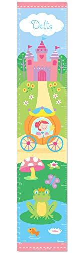 (Princess Personalized Wall Decal Growth Chart By Olive Kids)