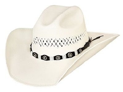 Justin Moore Montecarlo Bullhide Hats - Small Town USA Western 100X Shantung Panama Straw Cowboy Hat (7) ()