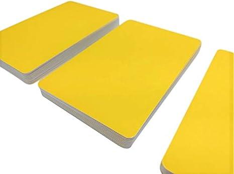 per stampanti  85 x 54 x 0,76 mm Gelb Cartoncini di plastica premium in PVC giallo in bianco 5-500 pezzi