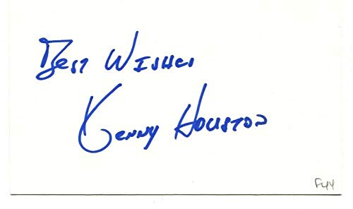 Ken Kenny Houston Signed Autographed 3 X 5 Index Card Redskins Oilers 45849