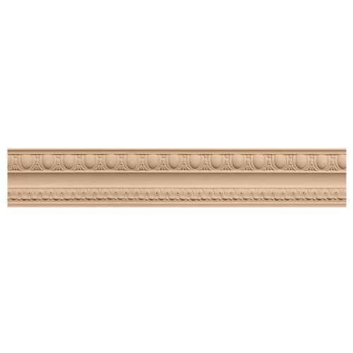Ekena Millwork MLD05X04X06BECH 5 1/2-Inch H x 4-Inch P x 6 3/4-Inch F x 96-Inch L Bedford Carved Wood Crown Moulding, (Cherry Crown Moulding)