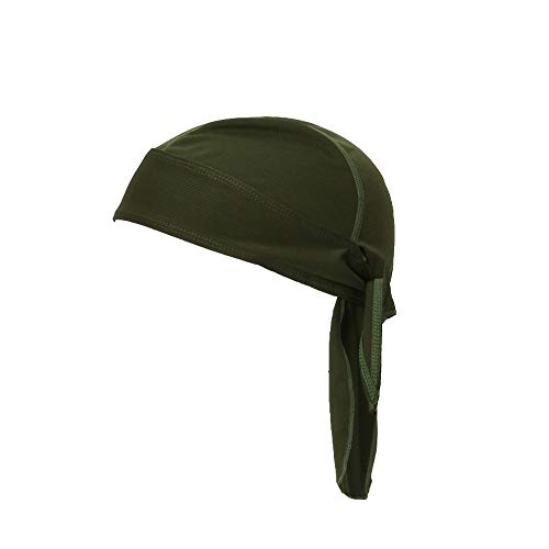 - Snowhale Sweat Wicking Helmet Liner - Doo Rag Skull Cap Beanie for Men & Women. Pirate Hat Bandana Head Wrap for Motorcycling, Running, Hiking, Cooking,Outdoor Activities (Army Green)