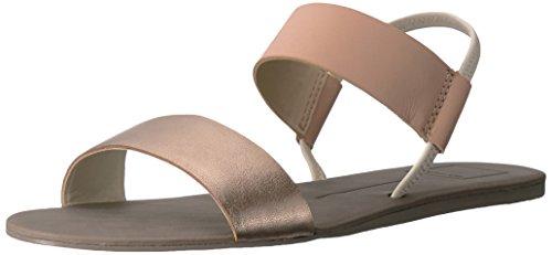 Dolce Vita Women's Demi Flat Sandal, Natural Multi Leather, 6 M US