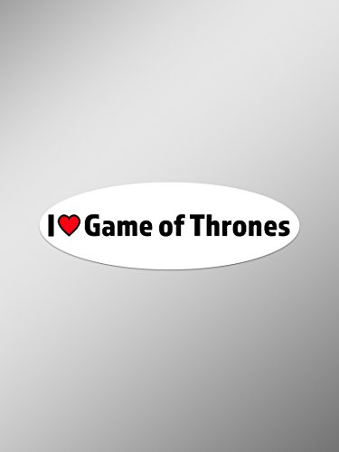I Love Game of Thrones Vinyl Decals Stickers ( Two Pack ) | Cars Trucks Vans Windows Walls Laptop Cups | Printed | 2 - 5.5 Inch Decals | KCD1478 - Wildlings Costume