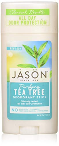 - JASON Purifying Tea Tree Deodorant Stick, 2.5 Ounce Tubes (Pack of 3)