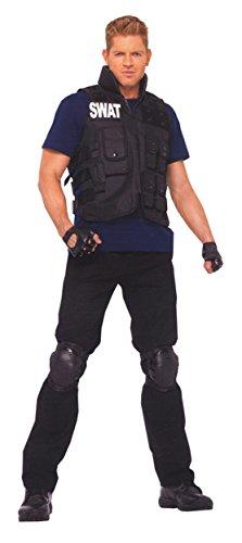 GTH Men's Police Officer Fancy Uniforms Swat Team Commander Costume, One Size -