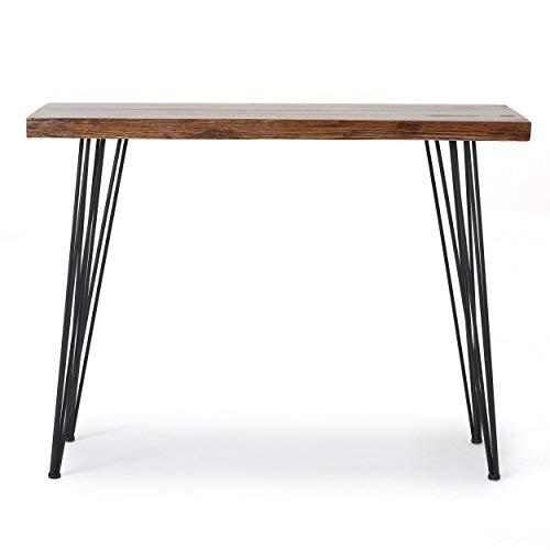 Aneissa Industrial Faux Live Edge Rectangular Bar Table, Natural by Christopher Knight Home (Image #6)