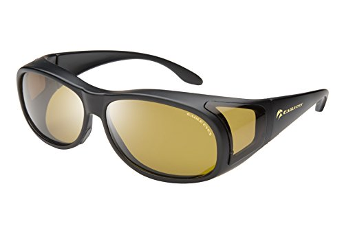 Eagle Eyes FitOns Polarized Sunglasses - Black - Progressive Oakley Lenses