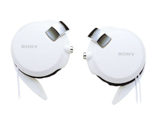 Sony Clip-on Stereo Headphones With Double Retractable Cord | MDR-Q68LW W White (Japanese Imports)