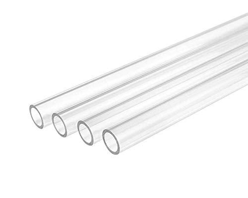 Bykski 12mm ID x 16mm OD Rigid Acrylic Tube - 4X 750mm - Clear