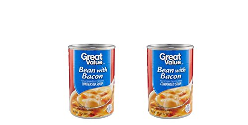 Pack Condensed Value (Pack of 2 Bean With Bacon Condensed Soup, 11.25 oz - With Natural Smoke Flavor)