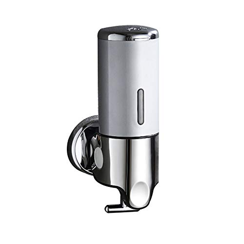 Soap Dispenser, Wall-Mounted Chrome Manual Liquid soap Box 500ml Bathroom Kitchen Shower