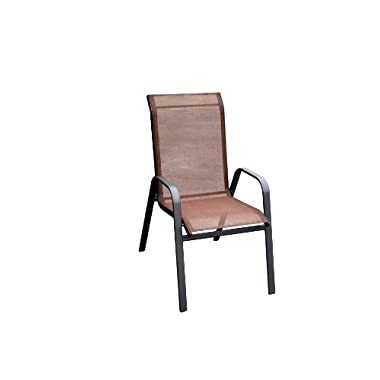 DC America 372139-DB4PK 4-Pack Fantasy Sling Chair, Dark Brown