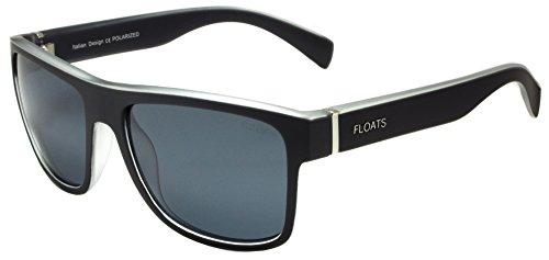 Floats Polarized F-4228 Sunglasses Polarized Two-tone plastic matte square sport frame Mirrored lenses 3-Barrel hinges Size 56 17 - 17 Glasses 56