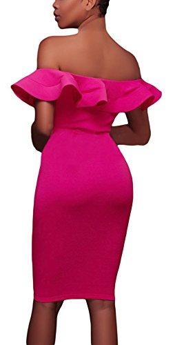 Cfanny - Vestido - Manga corta - para mujer Rosy