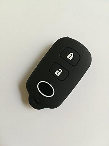 TCKEY Black Remote Key Cover Sleeve For Toyota 4Runner Celica Camry Corolla Echo FJ Cruiser Highlander Matrix Sedan Prius RAV4 Sequoia Sienna Solara Tacoma Yaris Tundra (Remote Starter For Rav4)