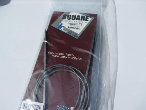 Kollage Square Circular 40-inch (101cm) Knitting Needle Soft Cable; Size US 5 (3.75mm)