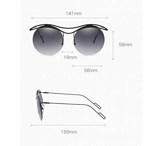 Las y de Las de la Gafas la los sin Marinas Sol de Tendencia Sol Hombres Gafas de Gafas de de Sol Marco Las Burenqiq gradient gray Sol de Personalidad Gafas de frame Coloridas Black de dq0F06