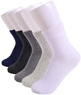 SHUFUWA 5 pairs Unisex Office paintings Home Combed Cotton Crew Socks