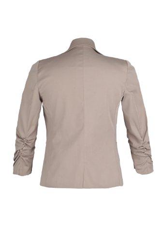 4 Blazer 3 arricciato Sleeves Curved Beige Ao 4tuality CqI7p