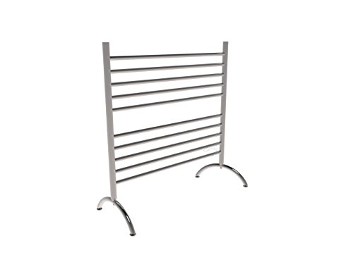 Amba SAFS Solo Freestanding Electric Towel warmer Finish: Brushed, Size: 38' H x 32.5' W x 15' D