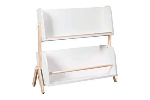 Babyletto Tally Storage and Bookshelf, White/Washed Natural - White Poplar Cabinet