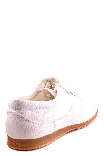 Hogan Damen MCBI148246O Weiss/Schwarz Stoff Sneakers