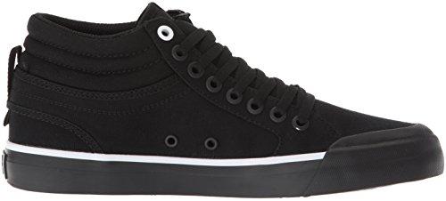 Dc Evan Salut Tx Chaussures De Skateboard Noir / Noir / Blanc