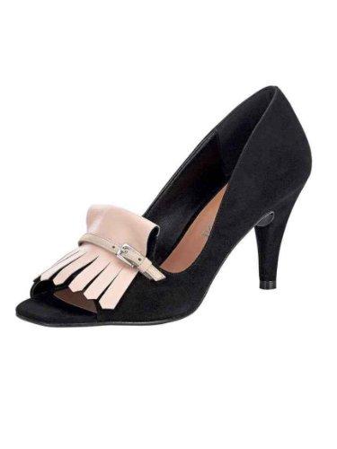 PATRIZIA DINI Damen-Schuhe Veloursleder-Peeptoes Mehrfarbig