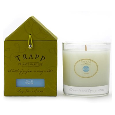 Trapp Large Poured Candle #20 Water (7 oz.), Health Care Stuffs