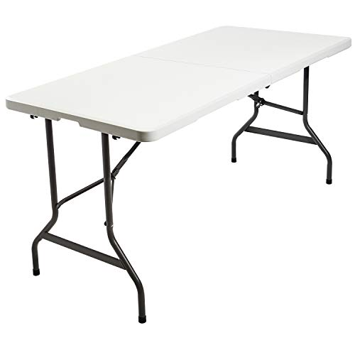 "Iceberg 65453 IndestrucTable TOO Bi-Fold Folding Table, 30""x60"", Platinum (Made in USA)"