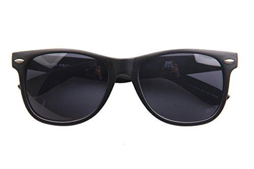 (SojoS Wood Grain Brand Designer Rivets Square Sunglasses for Men With Dark Black Frame/Grey Lens)