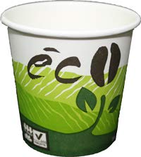 Life in Green 4 oz Compostable PLA Paper Cups 100% Biodegradable ECO Design Eco-Friendly Cups 200 count