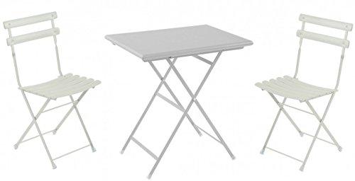 Balkonmöbel Set 3-Teilig, EMU, Rechteckig, Weiss, Klein