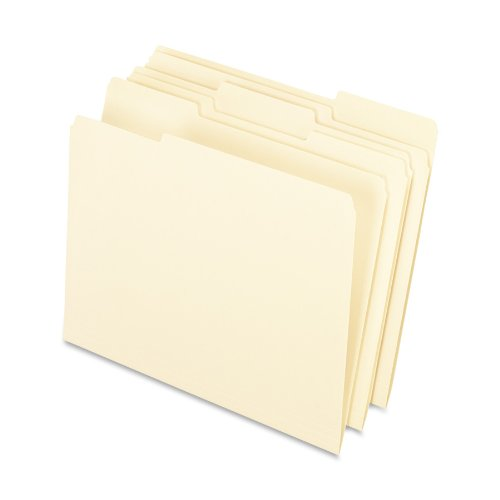 Pendaflex Interior File Folders, 1/3 Cut, Top Tab, Letter, Manila 100 Per Box, (4210 1/3) by Pendaflex