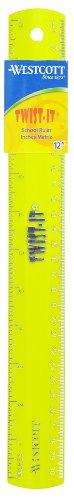 Westcott Twist-It Flexible Ruler, 12-Inch, - Ruler Acme