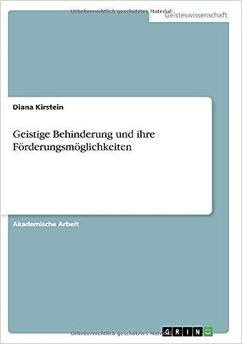 Geistige Behinderung und ihre Förderungsmöglichkeiten: Amazon.de ...