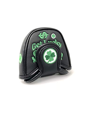 Mallet Putter Headcover - Replacement Lucky Money Putter Covers - Compatible with Odyssey 2 Ball - Scotty Cameron, Titleist, Ping and EVNROLL Putters (Black Green)