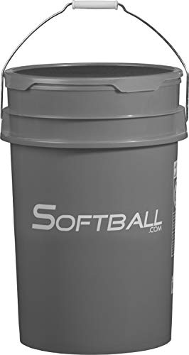 m Empty Bucket with Padded Lid Gray ()