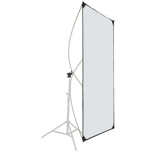 Glow Light Reflector Panel for Photo Studio Photography 35 x 70 with Stand Bracket Rotating Rod Adapter, Aluminum Rods, Carry Bag