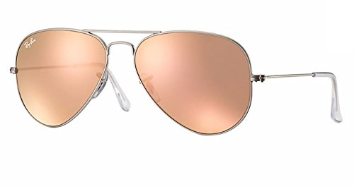 Ray Ban RB3025 019/Z2 58M Matte Silver/Brown Pink Mirror Aviator rb3025 matte silver