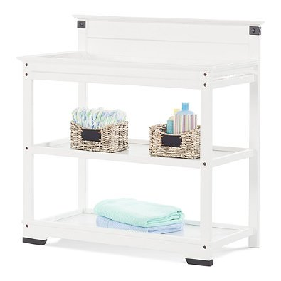 Child Craft Redmond Changing Table with Safety Strap in Matte White and Durable Non-Toxic Finish