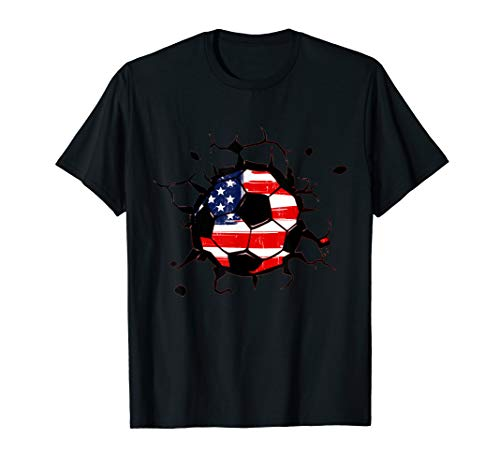 Soccer United States Ball Flag Jersey Shirt - USA ()