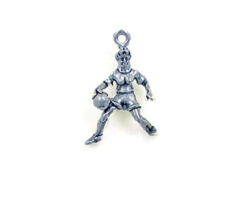 Pendant Jewelry Making/Chain Pendant/Bracelet Pendant Sterling Silver 3-D Female Basketball Player Charm
