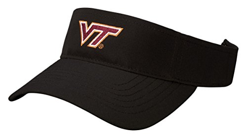 Tech Visor (NCAA Virginia Tech Hokies Performance Visor, Adjustable Size, Black)